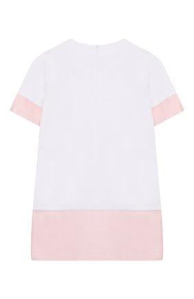 Детское хлопковое платье SIMONETTA белого цвета, арт. 1M1231/MB060/1-4 | Фото 2