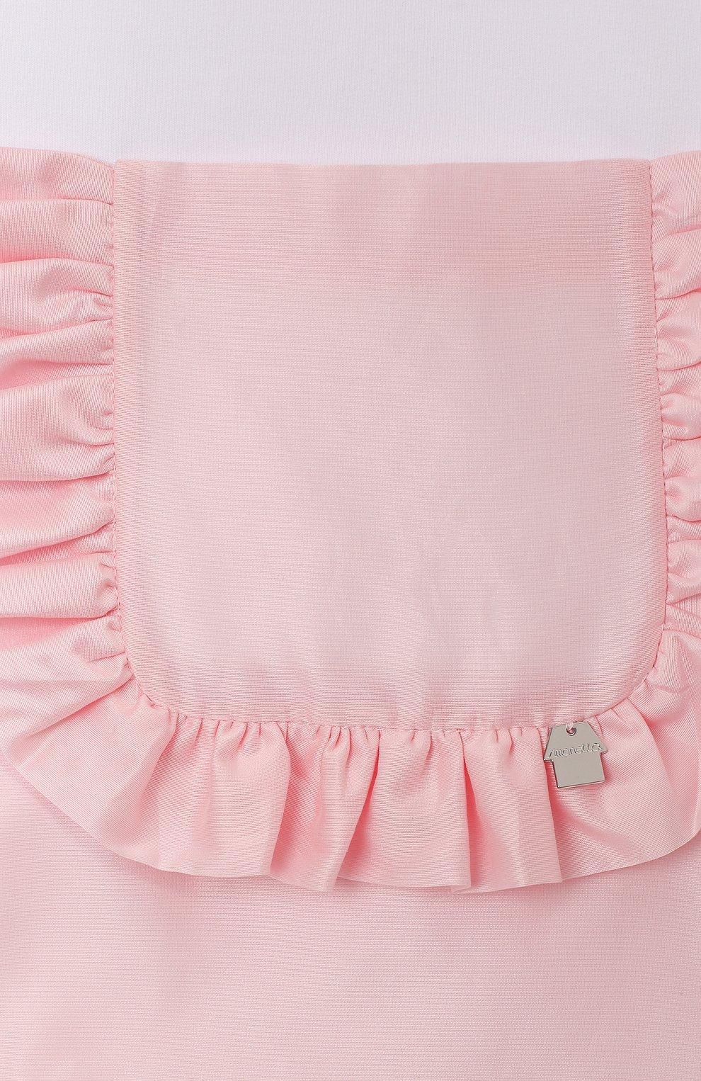 Детское хлопковое платье SIMONETTA белого цвета, арт. 1M1231/MB060/1-4   Фото 3 (Рукава: Короткие; Случай: Повседневный; Материал внешний: Хлопок; Ростовка одежда: 4 года   104 см, 2 года   92 см)