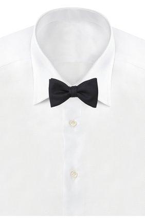 Мужской шелковый галстук-бабочка HUGO темно-синего цвета, арт. 50397262 | Фото 2