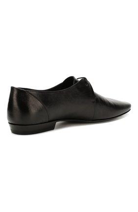 Мужские кожаные дерби SAINT LAURENT черного цвета, арт. 581737/0ZZ00   Фото 4