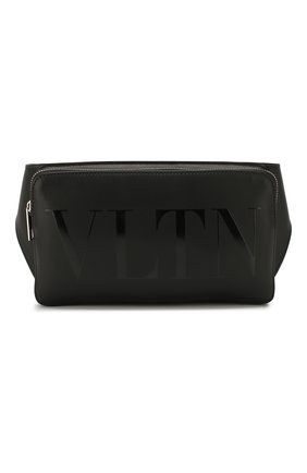 Кожаная поясная сумка Valentino Garavani VLTN | Фото №1