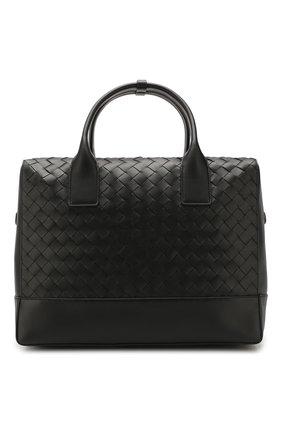 Мужской кожаный портфель BOTTEGA VENETA черного цвета, арт. 609206/VCPQ1   Фото 1
