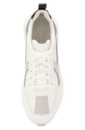 Мужские кожаные кроссовки SANTONI белого цвета, арт. MSAM21246GEGXJC0I41 | Фото 5