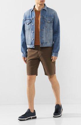 Мужские кожаные кеды V DESIGN темно-синего цвета, арт. MSC02B | Фото 2