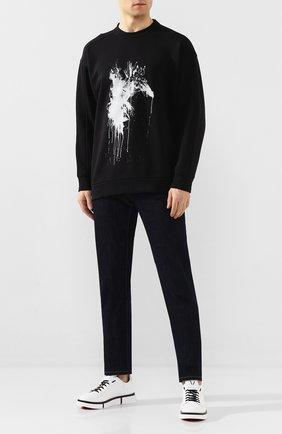 Мужские кожаные кеды V DESIGN черно-белого цвета, арт. MSR03 | Фото 2