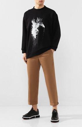 Мужские кожаные кеды V DESIGN черно-белого цвета, арт. MSR04 | Фото 2