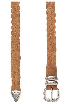 Мужской замшевый ремень BRUNELLO CUCINELLI коричневого цвета, арт. MAURP348 | Фото 2