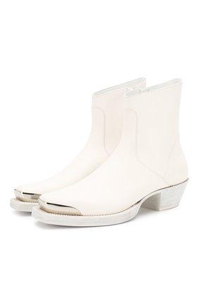 Мужские кожаные сапоги VETEMENTS белого цвета, арт. SS20B0017 2408/M | Фото 1