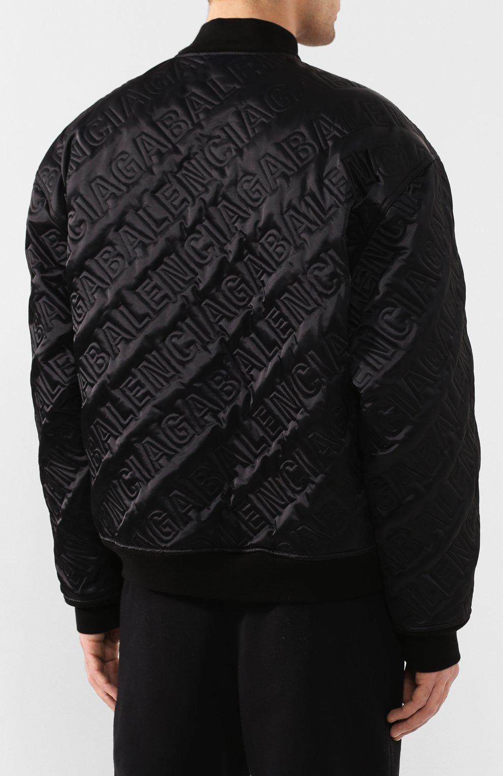 Мужской бомбер BALENCIAGA черного цвета, арт. 606756/TG004 | Фото 4