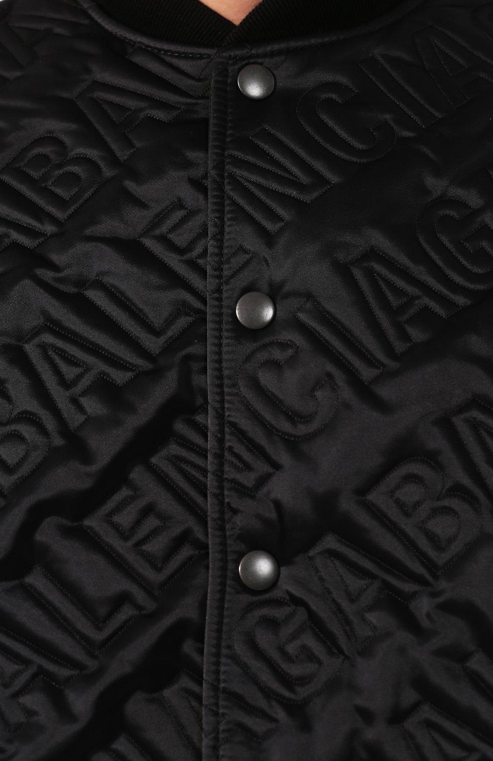 Мужской бомбер BALENCIAGA черного цвета, арт. 606756/TG004 | Фото 5