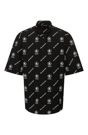 Мужская хлопковая рубашка BALENCIAGA черно-белого цвета, арт. 602026/TIL25 | Фото 1