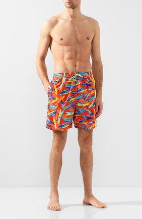 Детского плавки-шорты PAUL&SHARK оранжевого цвета, арт. E20P5033/3XL-6XL | Фото 2