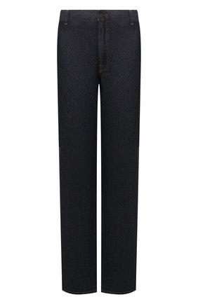 Мужские джинсы с отделкой из кожи каймана BRIONI темно-синего цвета, арт. SPNT0L/P9D45/STELVI0/CYAC | Фото 1