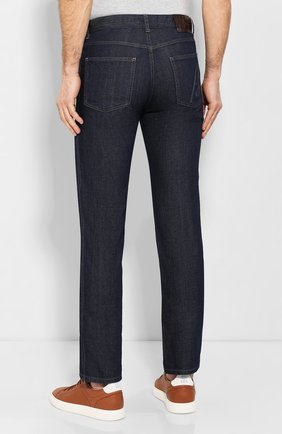 Мужские джинсы с отделкой из кожи каймана BRIONI темно-синего цвета, арт. SPNT0L/P9D45/STELVI0/CYAC | Фото 4