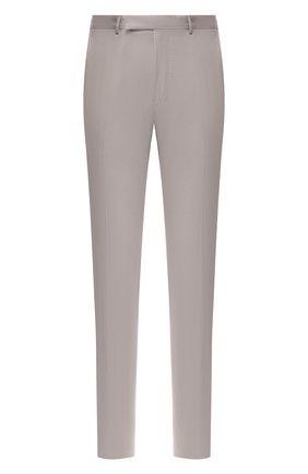Мужской брюки из смеси хлопка и кашемира ERMENEGILDO ZEGNA серого цвета, арт. 766F03/77TB12 | Фото 1