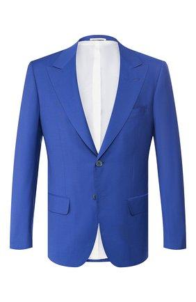 Мужской шерстяной пиджак KITON синего цвета, арт. UG862K06S11 | Фото 1