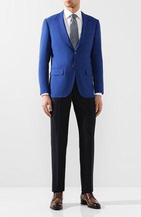 Мужской шерстяной пиджак KITON синего цвета, арт. UG862K06S11 | Фото 2