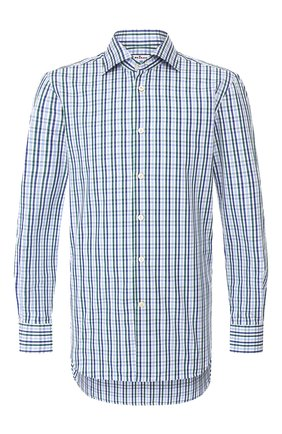 Мужская хлопковая сорочка KITON зеленого цвета, арт. UCIH0730369 | Фото 1