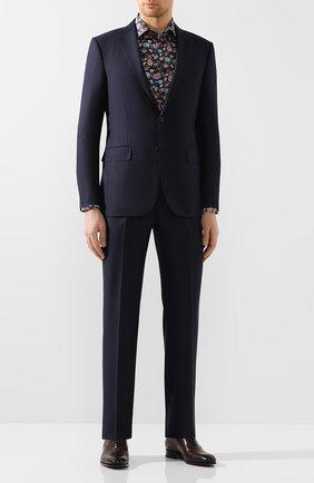 Мужская хлопковая сорочка ETON темно-синего цвета, арт. 1000 00623 | Фото 2