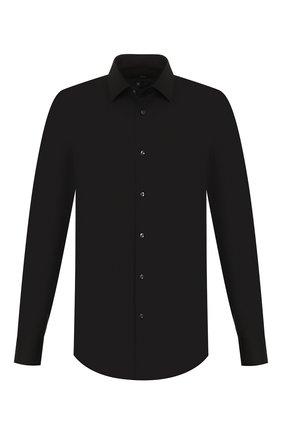 Мужская хлопковая сорочка BOSS черного цвета, арт. 50421976 | Фото 1
