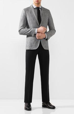 Мужская хлопковая сорочка BOSS серого цвета, арт. 50422235 | Фото 2