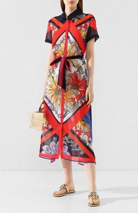 Женское платье с поясом GOTTEX разноцветного цвета, арт. 20FR393   Фото 2