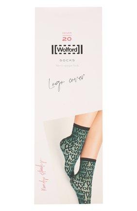 Женские капроновые носки logo cover WOLFORD черного цвета, арт. 48029 | Фото 1
