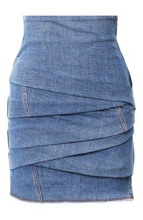 Женская джинсовая юбка PHILOSOPHY DI LORENZO SERAFINI синего цвета, арт. A0103/730 | Фото 1