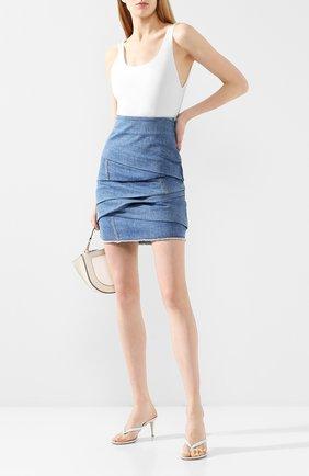Женская джинсовая юбка PHILOSOPHY DI LORENZO SERAFINI синего цвета, арт. A0103/730 | Фото 2