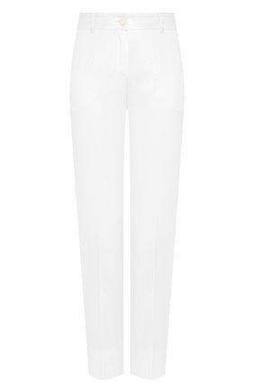 Женские хлопковые брюки DOLCE & GABBANA белого цвета, арт. FTAGNT/FUFJU | Фото 1