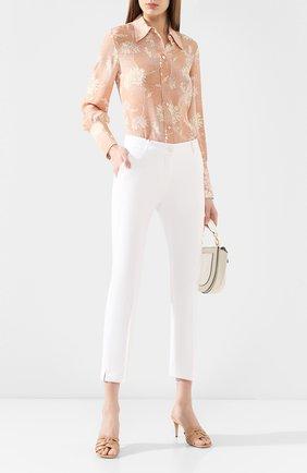 Женские хлопковые брюки DOLCE & GABBANA белого цвета, арт. FTAGNT/FUFJU | Фото 2
