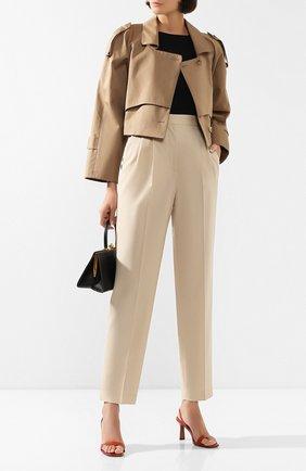 Женские шерстяные брюки JOSEPH бежевого цвета, арт. JP000877 | Фото 2