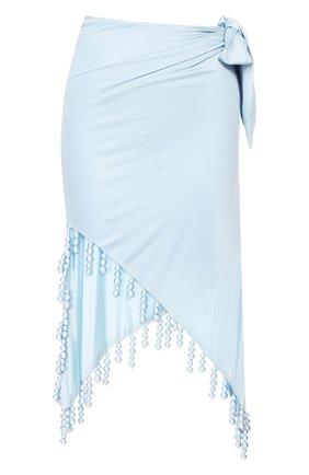 Женская юбка из вискозы CULT GAIA голубого цвета, арт. 51018Y03 SKY   Фото 1 (Материал подклада: Вискоза; Длина Ж (юбки, платья, шорты): Миди, Макси; Статус проверки: Проверена категория; Материал внешний: Вискоза)