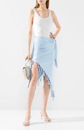 Женская юбка из вискозы CULT GAIA голубого цвета, арт. 51018Y03 SKY   Фото 2 (Материал подклада: Вискоза; Длина Ж (юбки, платья, шорты): Миди, Макси; Статус проверки: Проверена категория; Материал внешний: Вискоза)
