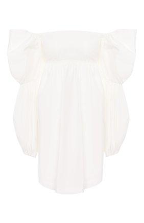 Женская хлопковая блузка REJINA PYO белого цвета, арт. C267/C0TT0N   Фото 1
