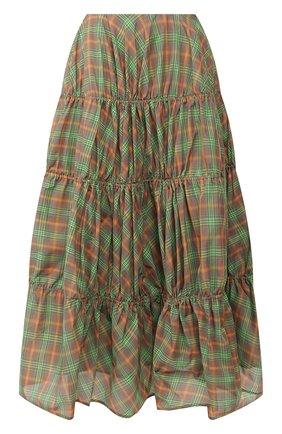 Женская юбка-миди REJINA PYO зеленого цвета, арт. D156/JAPANESE V0ILE   Фото 1