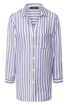 Женская рубашка из вискозы PIETRO BRUNELLI синего цвета, арт. CA0174/VIR008   Фото 1