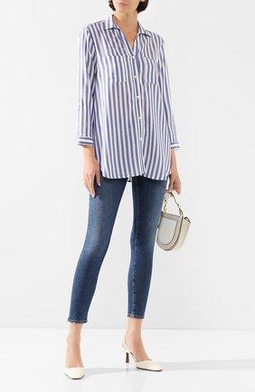 Женская рубашка из вискозы PIETRO BRUNELLI синего цвета, арт. CA0174/VIR008   Фото 2