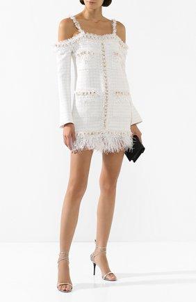 Женское платье BALMAIN белого цвета, арт. TF16223/C229   Фото 2