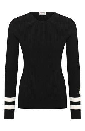Женская пуловер из вискозы MONCLER черного цвета, арт. F1-093-9C709-00-C9027 | Фото 1