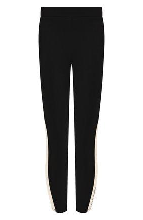 Женские леггинсы MONCLER черно-белого цвета, арт. F1-093-8H702-10-V8084 | Фото 1