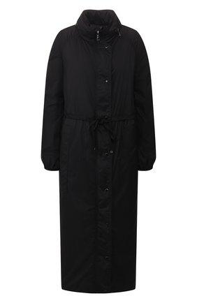 Женский плащ lin MONCLER черного цвета, арт. F1-093-1D504-00-C0391 | Фото 1