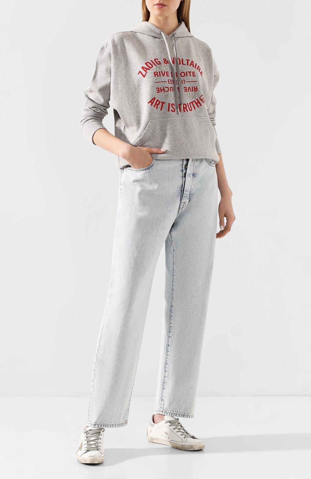 Женские джинсы BEN TAVERNITI UNRAVEL PROJECT голубого цвета, арт. UWYA005R20DEN0014500 | Фото 2