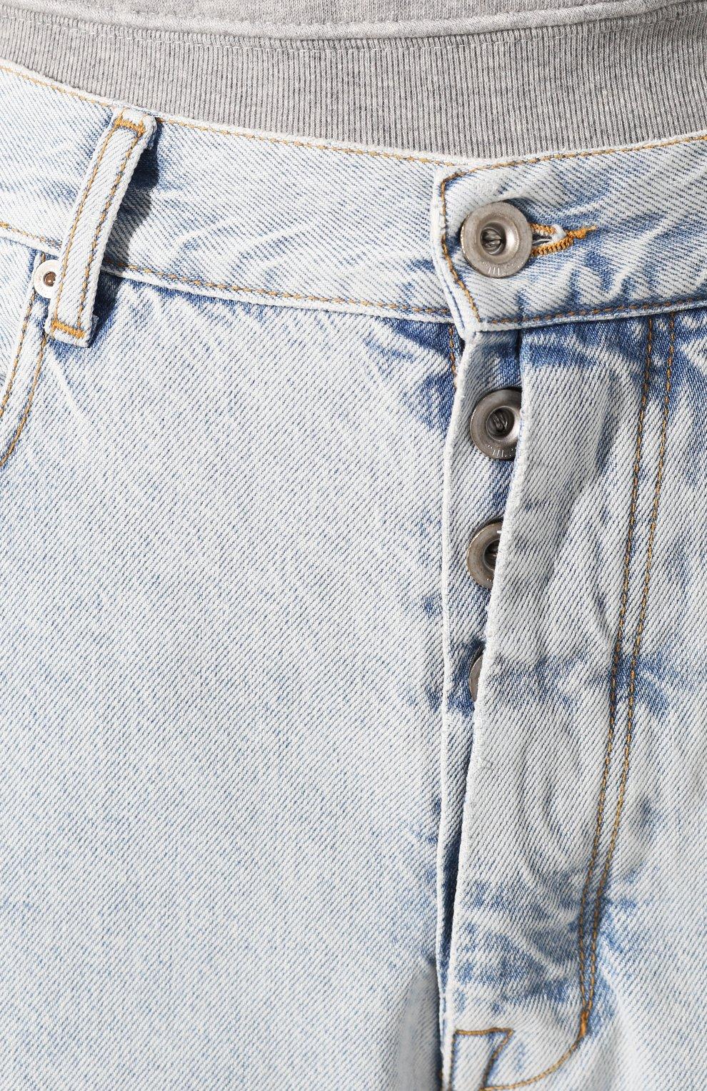 Женские джинсы BEN TAVERNITI UNRAVEL PROJECT голубого цвета, арт. UWYA005R20DEN0014500 | Фото 5