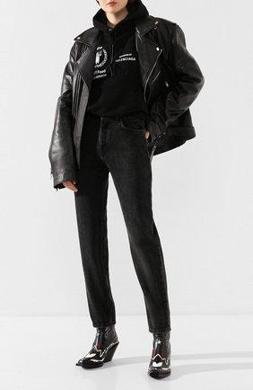 Женские джинсы BALENCIAGA серого цвета, арт. 600233/TBP47 | Фото 2