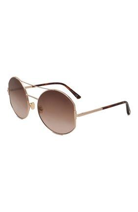 Женские солнцезащитные очки TOM FORD коричневого цвета, арт. TF782 28F | Фото 1