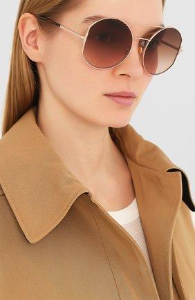 Женские солнцезащитные очки TOM FORD коричневого цвета, арт. TF782 28F | Фото 2