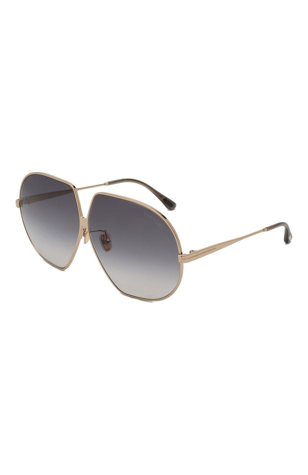 Женские солнцезащитные очки TOM FORD золотого цвета, арт. TF785 28B | Фото 1
