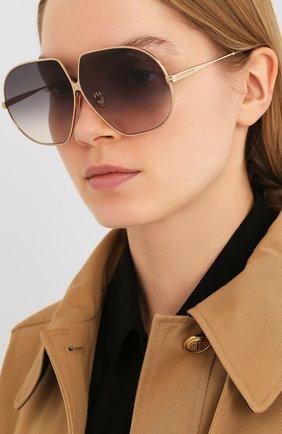 Женские солнцезащитные очки TOM FORD золотого цвета, арт. TF785 28B | Фото 2