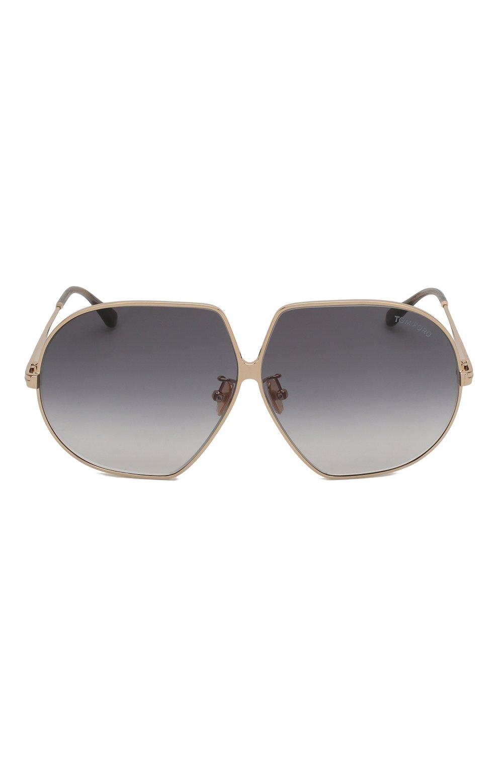 Женские солнцезащитные очки TOM FORD золотого цвета, арт. TF785 28B | Фото 3